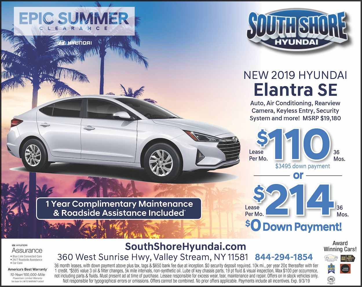 Hyundai Valley Stream >> Hyundai Lease Offers Specials From South Shore Hyundai