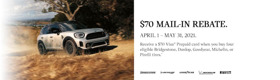 $70 Mail-In Rebate on Select Tires