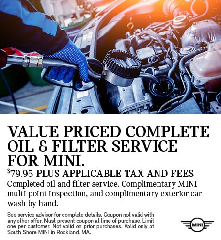 Value Prices Complete Oil & Filter Service for MINI.