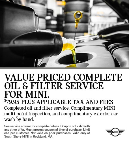 Value Priced Complete Oil & Filter Service for MINI