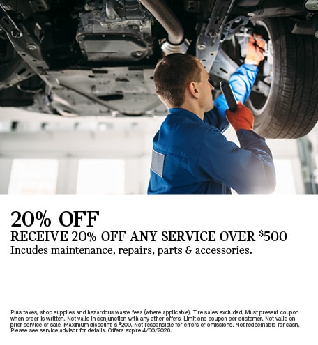 Receive 20% Off Any Service Over $500