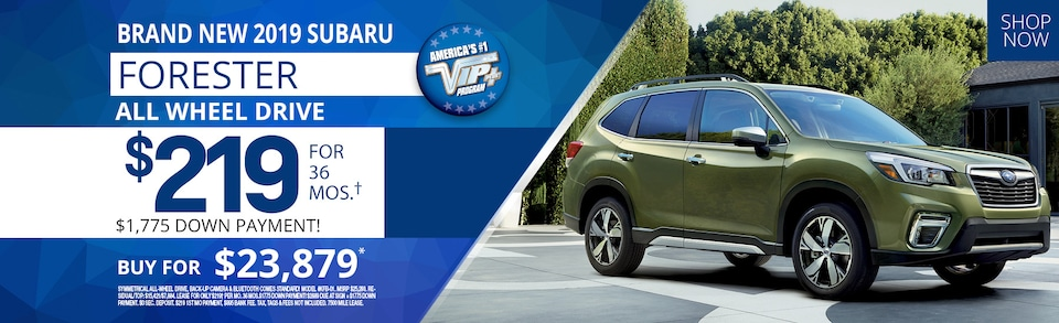 Subaru Forester lease deals July 2019