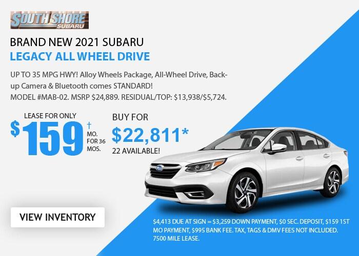 Subaru Legacy Deal - Feb 2021