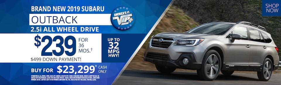 Subaru Outback lease deals July 2019