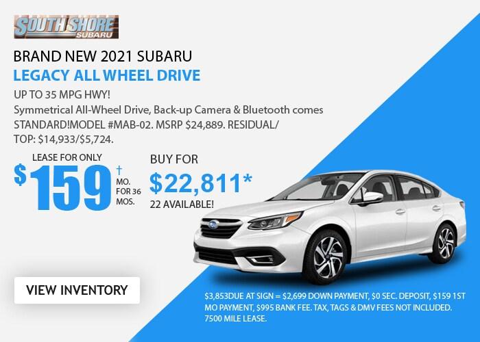 Subaru Legacy Deal - April 2021