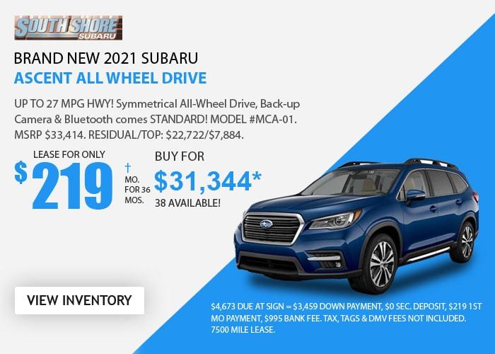 Subaru Ascent Deal - Feb 2021
