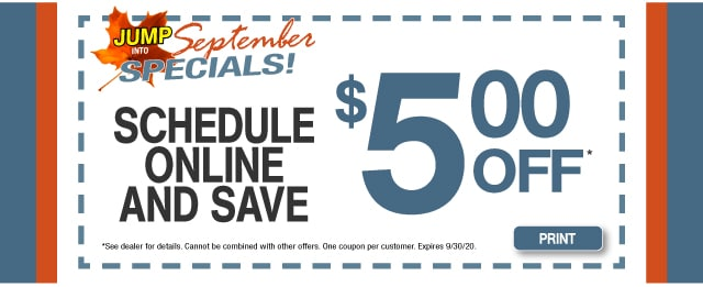 Schedule Online And Save