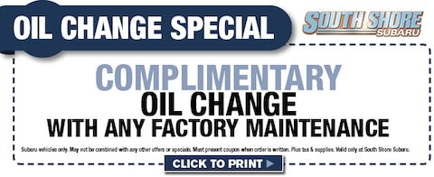Complimentary Oil Change with Factory Maintenance