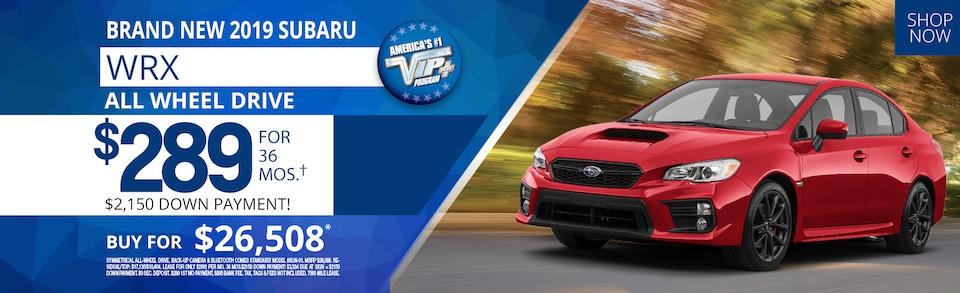 Subaru WRX Lease Deals July 2019