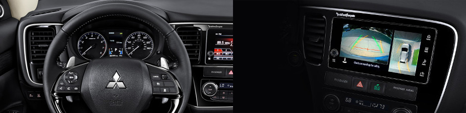 2018 Mitsubishi Outlander Steering Wheel and Infotainment center