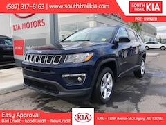 Certified 2018 Jeep Compass NORTH, LEATHER SEATS, BLUETOOTH, SUPER CLEAN in Calgary, AB