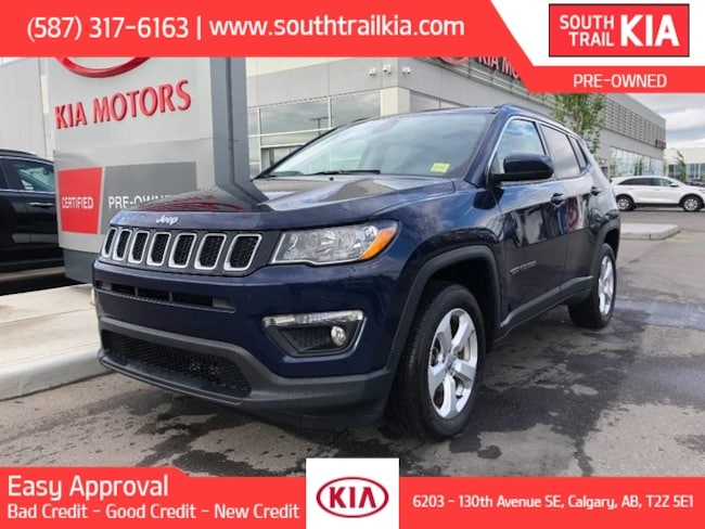 Certified 2018 Jeep Compass NORTH, LEATHER SEATS, BLUETOOTH, SUPER CLEAN in Calgary