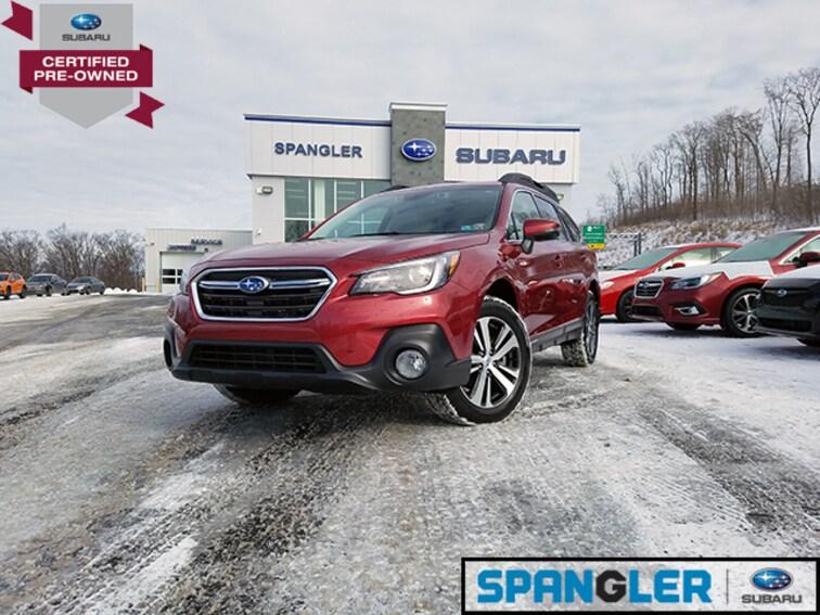 Certified Used 2018 Subaru Outback 2.5i Limited w/Eyesight+Navi+HBA+RAB+LED Headlight SUV in Johnstown, PA