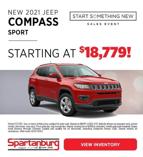 2021 Jeep Compass Sport Specials