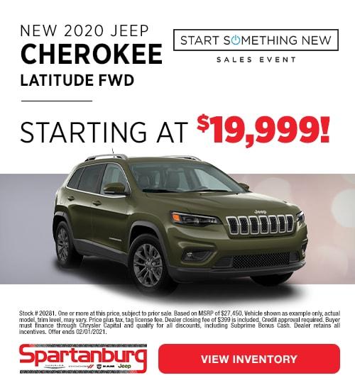 2020 Jeep Cherokee Latitude Specials