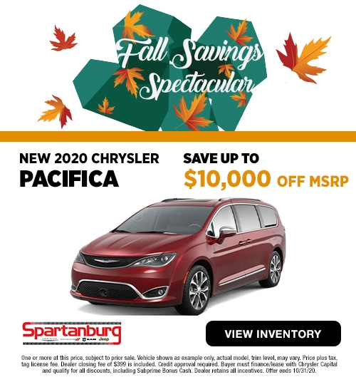 2020 Chrysler Pacifica Save Up To $10,000 OFF MSRP!