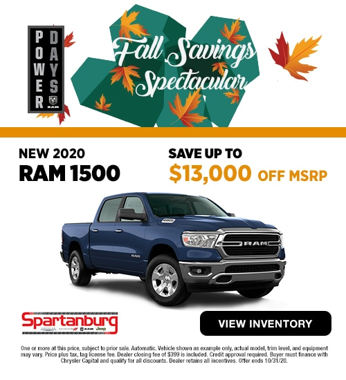 2020 RAM 1500 Crew Cab SAVE Up to $13,000 off MSRP!