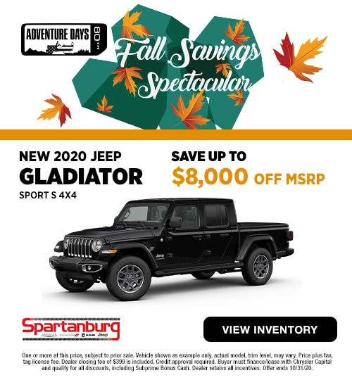 2020 Jeep Gladiator SAVE Up To $8,000 OFF MSRP!