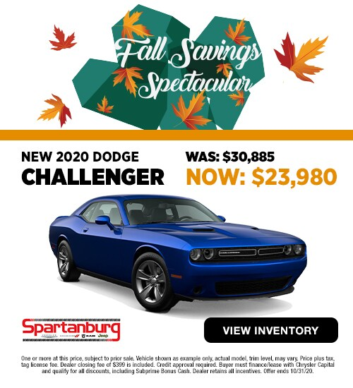 2020 Dodge Challenger Was: $30,885 Now: $23,980