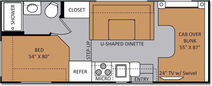 2014 thor motor coach four winds 22e sp cialiste v hicules r cr atifs. Black Bedroom Furniture Sets. Home Design Ideas