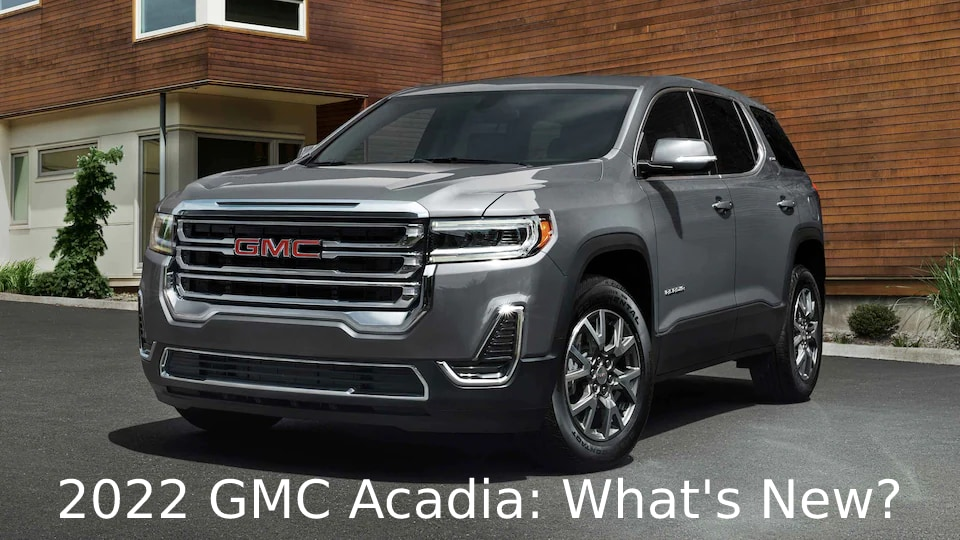 Front 3/4 View of 2022 GMC Acadia in Silver
