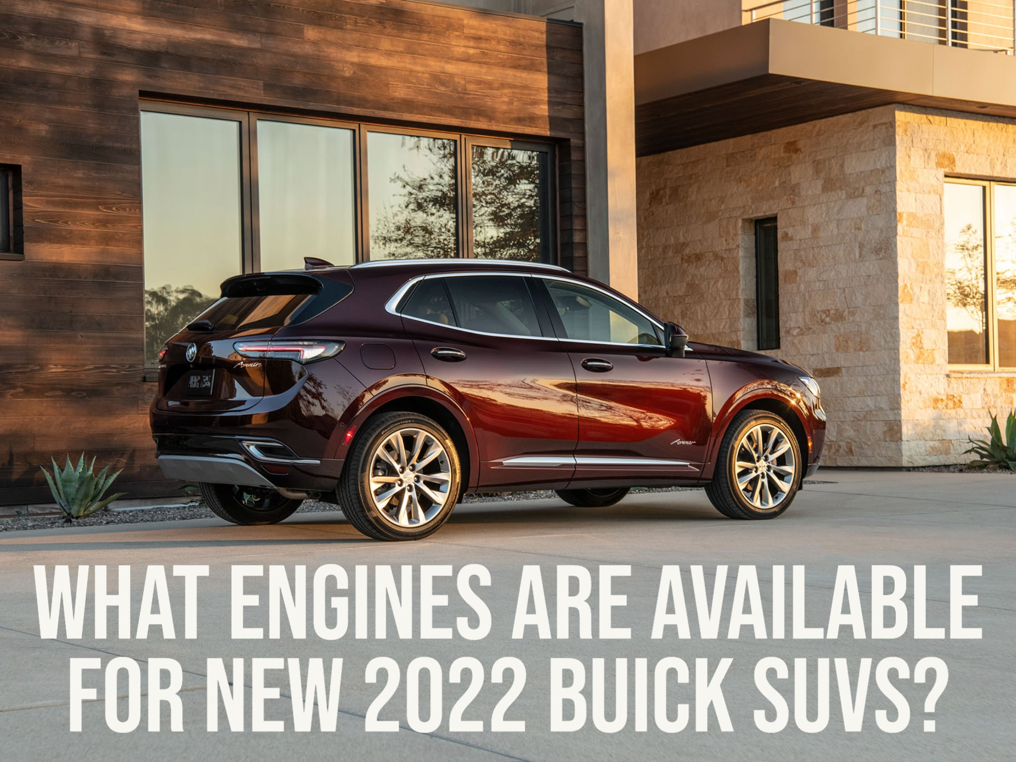 Rear 3/4 View of Buick Envision