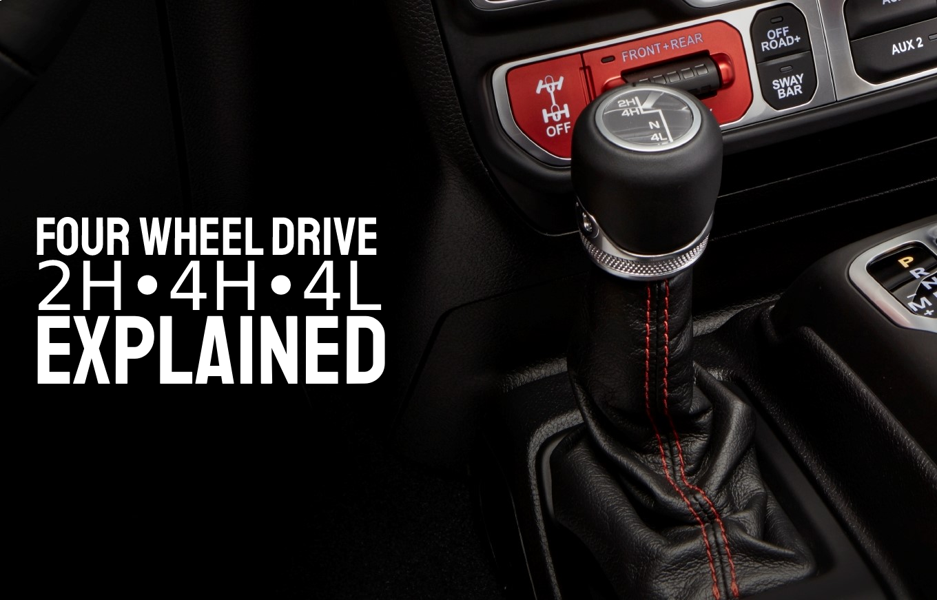 Four Wheel Drive Explained, Close up of Jeep 4WD shifter