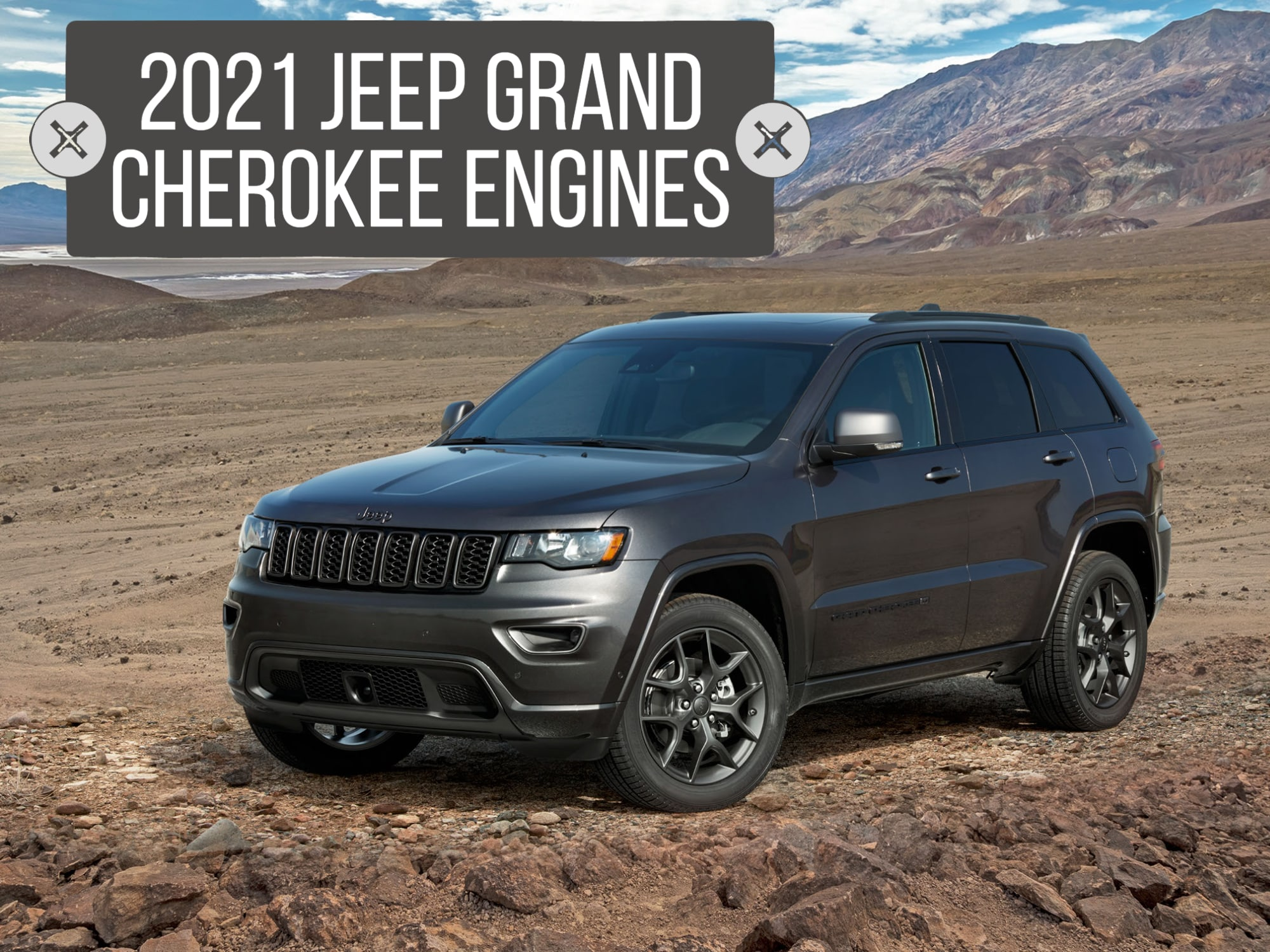 Front 3/4 View new Jeep Grand Cherokee 80th anniversary edition