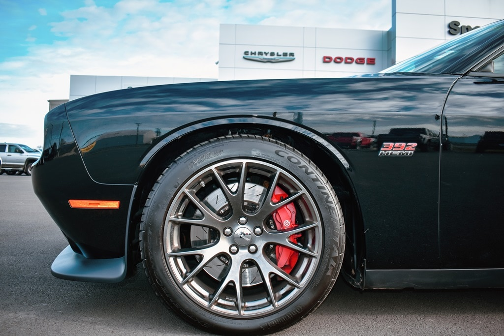 Up Close Wheel of Dodge Challenger