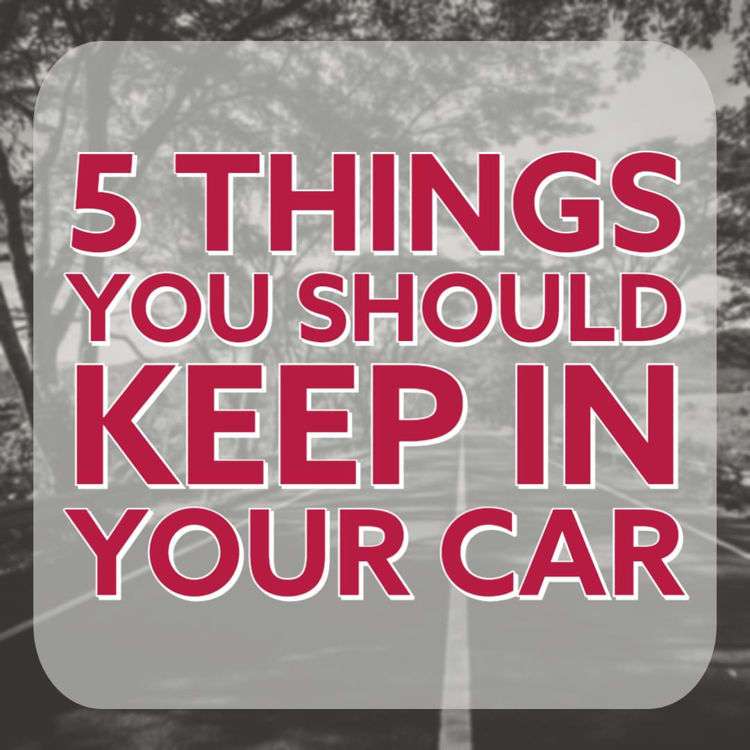 5 Things You Should Keep In Your Car in Red