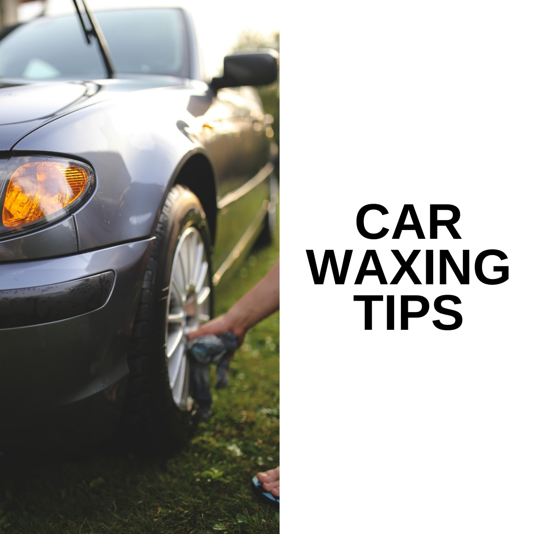 Car waxing tips person drying tires