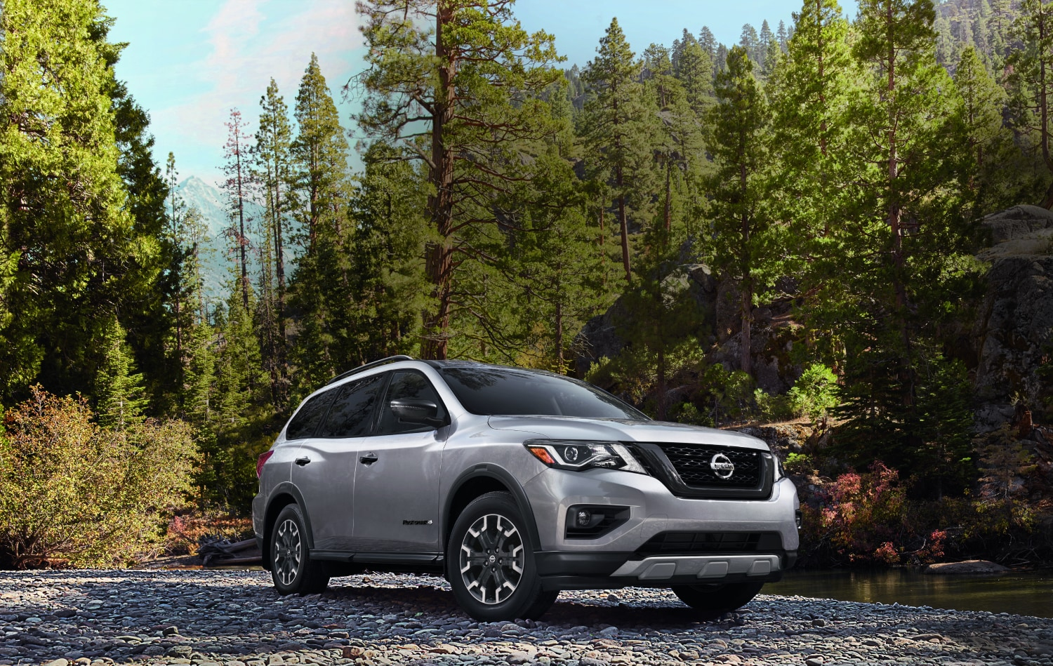 2020 Nissan Pathfinder Rock Creek Edition in Fall Background
