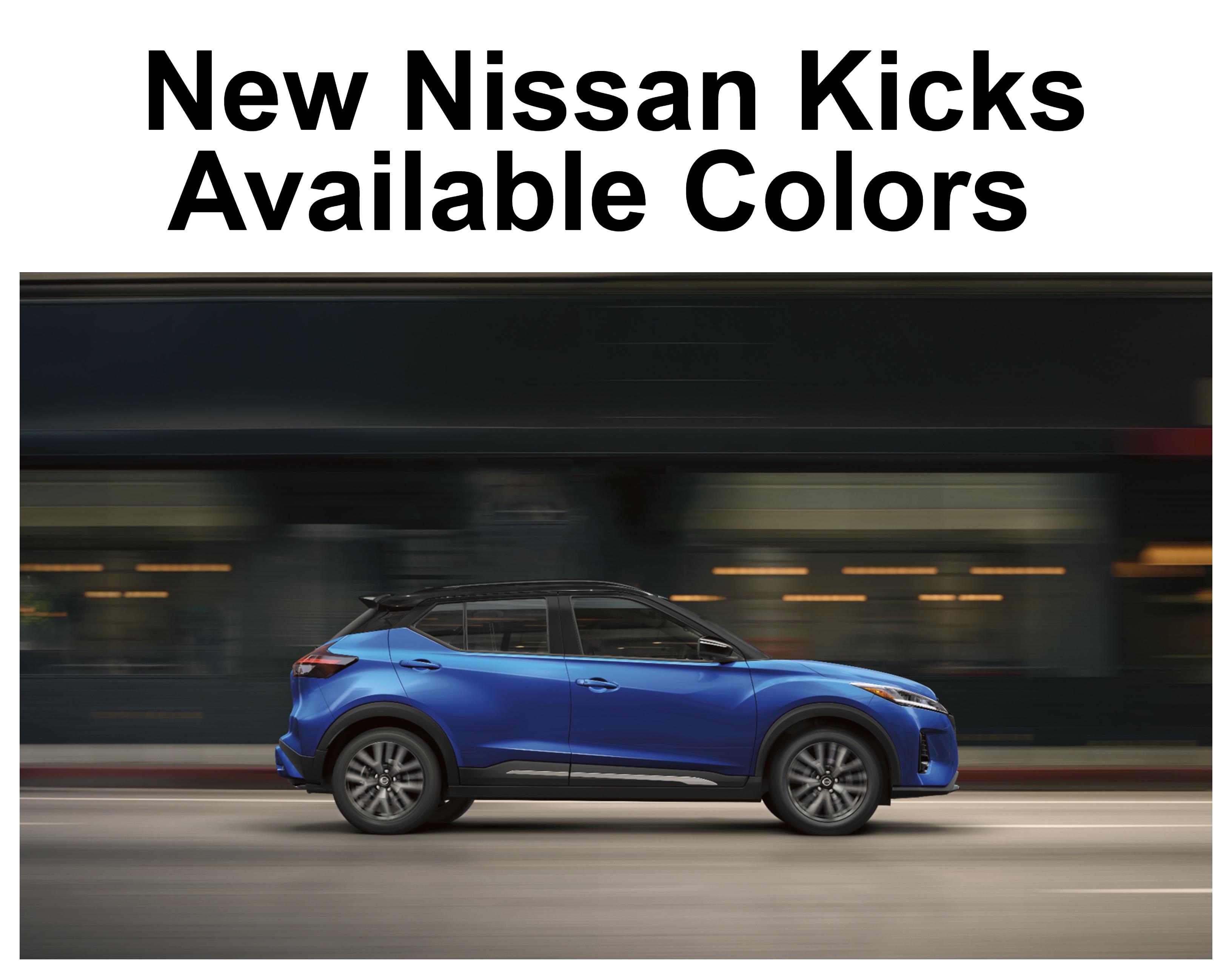 Side View of Blue Nissan Kicks Driving