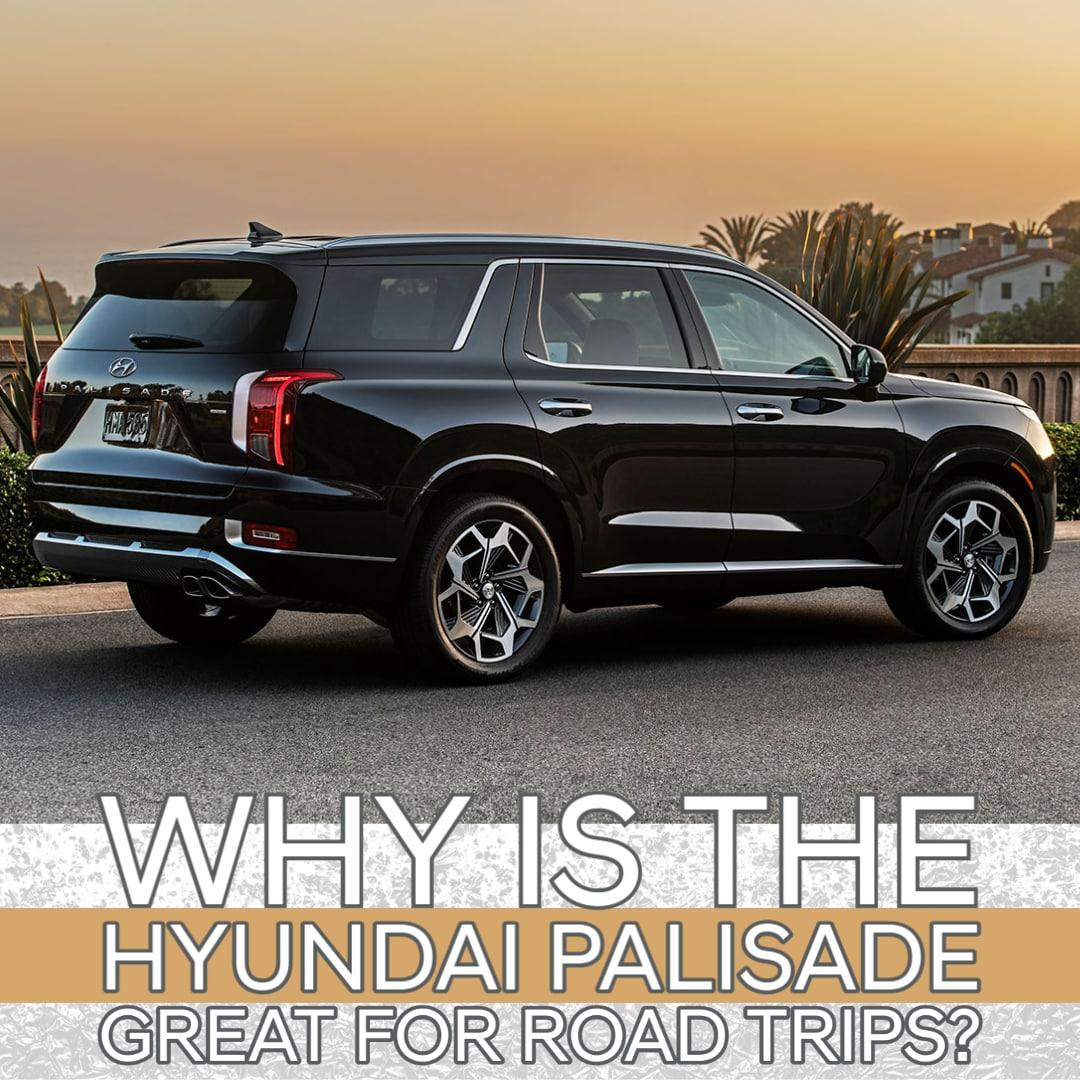 Rear 3/4 view of Hyundai Palisade SUV