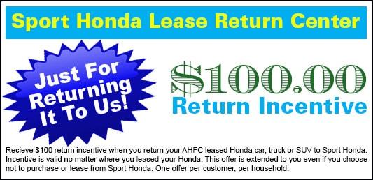 Honda lease maturity center phone number