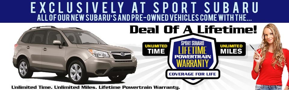 Sport Subaru Free Lifetime Warranty With Every New Car And