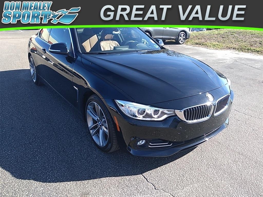 Used 2016 BMW 428i wSULEV black sapphire metallic exterior saddle brown interior 20l i-4 cyl 1