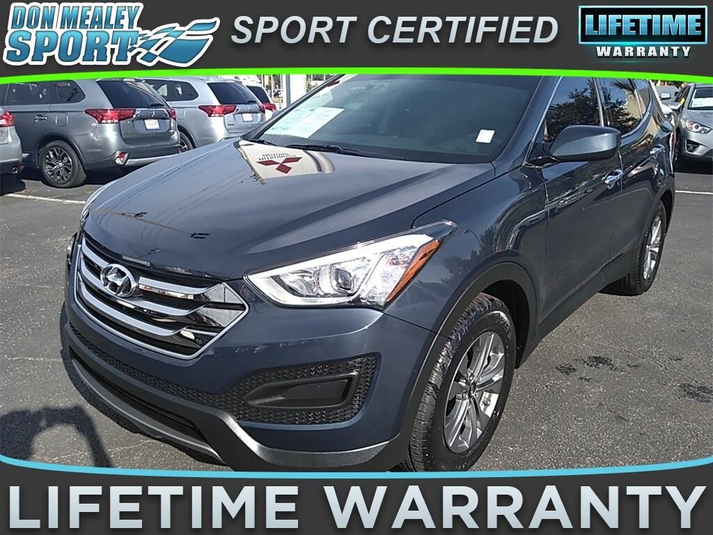 Used 2016 Hyundai Santa Fe Sport 24L marlin blue exterior gray interior 24l i-4 cyl 29426 mil