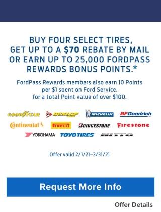 Four Select Tire Rebates
