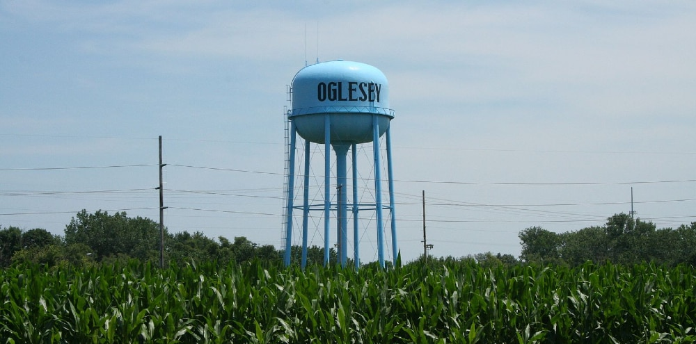Water Tower In Oglesby