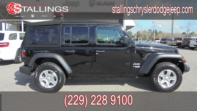 New 2018 Jeep Wrangler UNLIMITED SPORT S 4X4 Sport Utility for sale in Cairo, GA at Stallings Motors