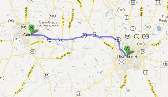 directions to stallings motors from thomasville ga new