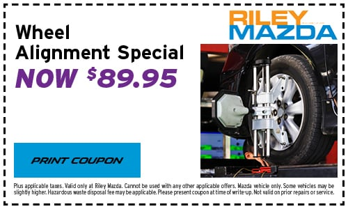 Front End Alignment Coupons >> Car Service Coupons For Oil Changes Tune Ups More At Riley Mazda