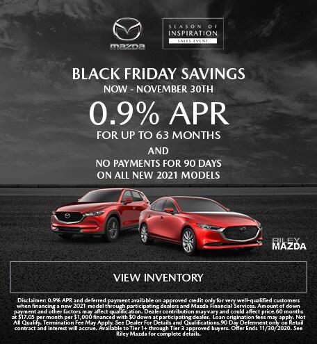 0.9% APR Black Friday Savings