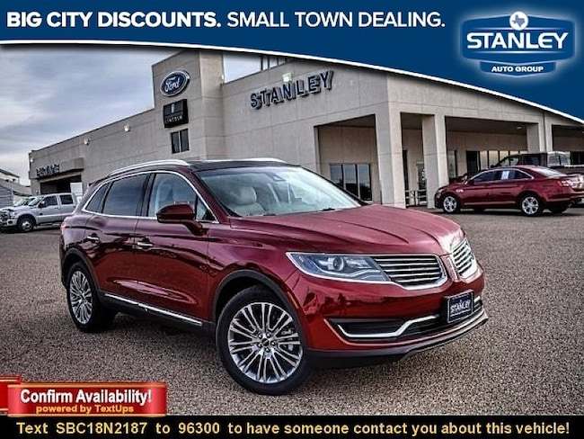 New 2018 Lincoln Mkx For Sale At Stanley Lincoln Brownfield Vin