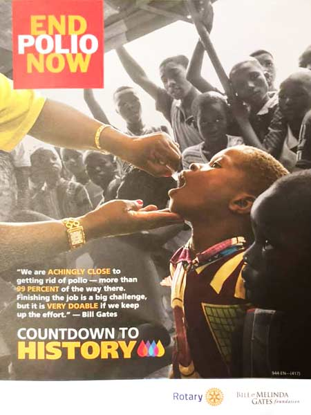 End Polio Now flyer