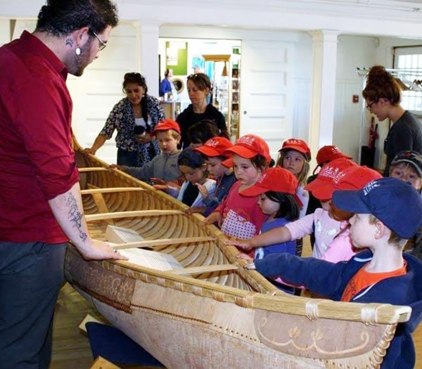 Children touring the museum
