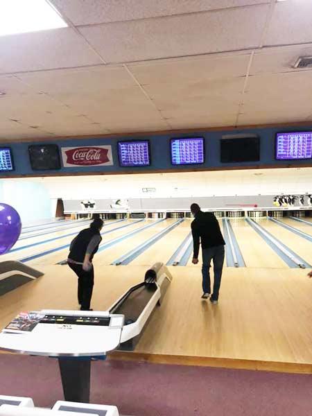 Stanley Subaru crew taking bowling very serious