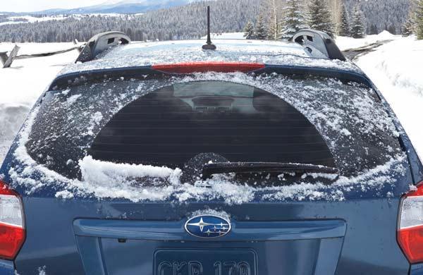 Impreza in the snow