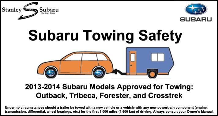 Towing Capacity Subaru Crosstrek >> Ten Towing Tips To Keep You Safe Stanley Subaru
